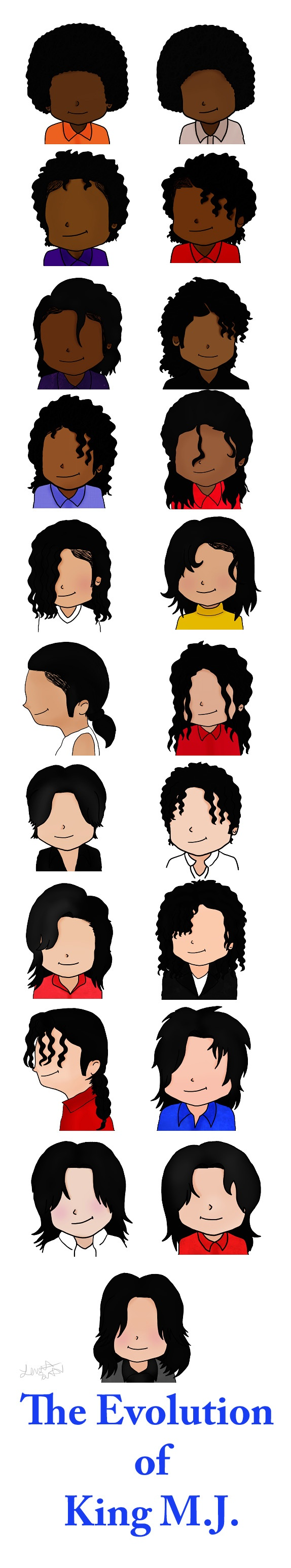 MJ's hairstyles over the years