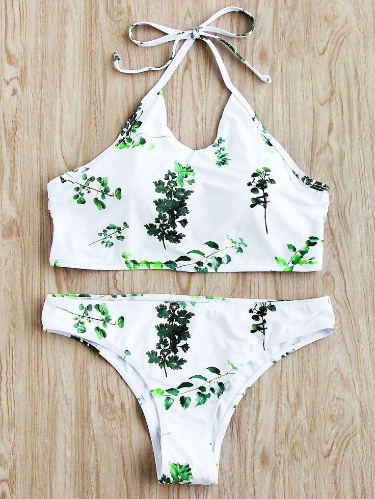 Shop Jungle Print Halter Bikini Set online. SheIn offers Jungle Print Halter Bikini Set & more to fit your fashionable needs.
