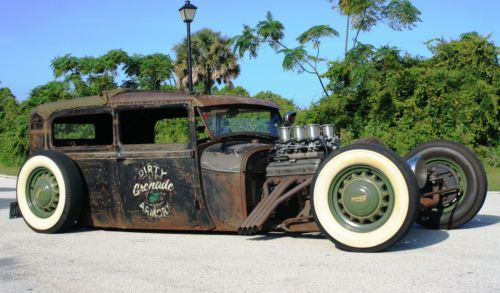 1928-Model-A-Sedan-Rat-Rod-CHOPPED-CHANNELED-SHORTENED-Bagged-CUSTOM-Everything