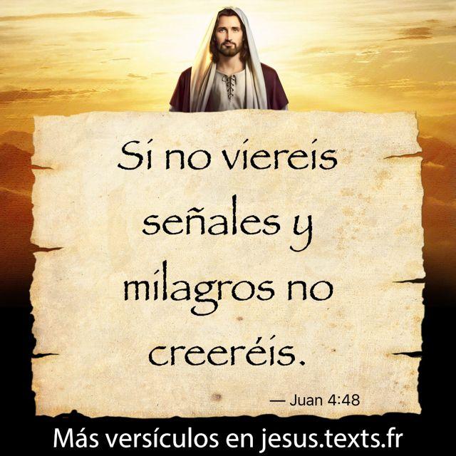 """Si no viereis señales y milagros no creeréis."" — Juan 4:48 https://txf.ro/m/jf267"