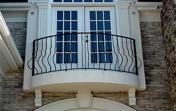 Balcony windows frame exterior swoon facade for French balcony design