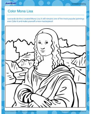 51 Best Images About Mona Lisa On Pinterest Pop Art Mona The Vire Coloring Pages