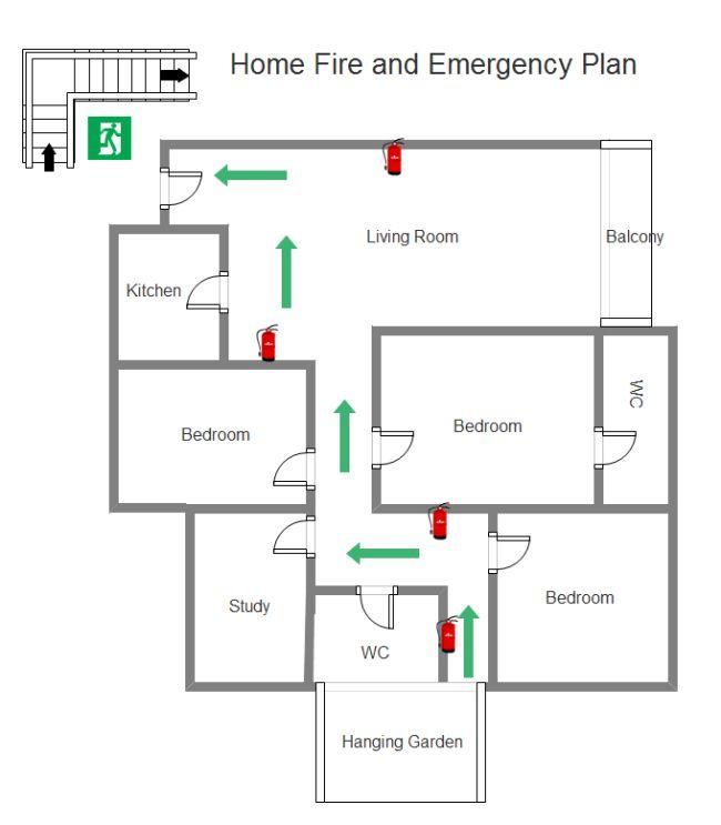 Home Emergency Plan Denah Bangunan Bangunan