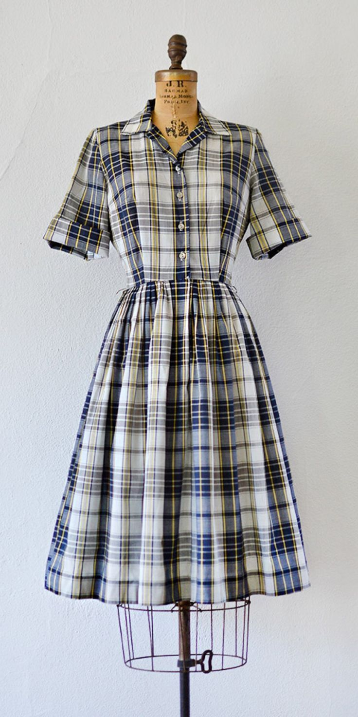 vintage 1950s dress | Scholarly Statements Dress | Adored Vintage