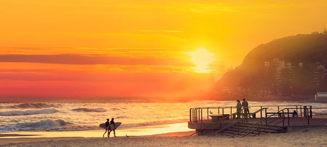Burleigh Beach at sunrise ~ The place to be!