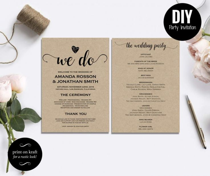 Free Wedding Ideas: Summer Wedding DIY Free Printable
