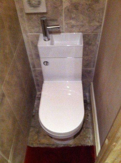 Under stairs eco toilet