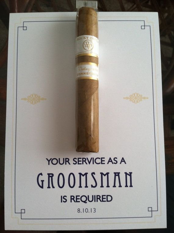 Asking them to be a part of your day has become just as important as their groomsmen gifts. I like this idea!