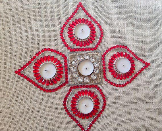 Items similar to Kundan floor art / Indian Rangoli / Wedding Centerpiece / Diwali Decoration on Etsy
