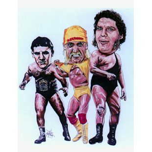 Here's an oldie but goodie of an illustration I did for a sports bar way back when.  Original art done with markers 16x20 in size of Hulk Hogan Andre The Giant and Bruno Sanmartino.....