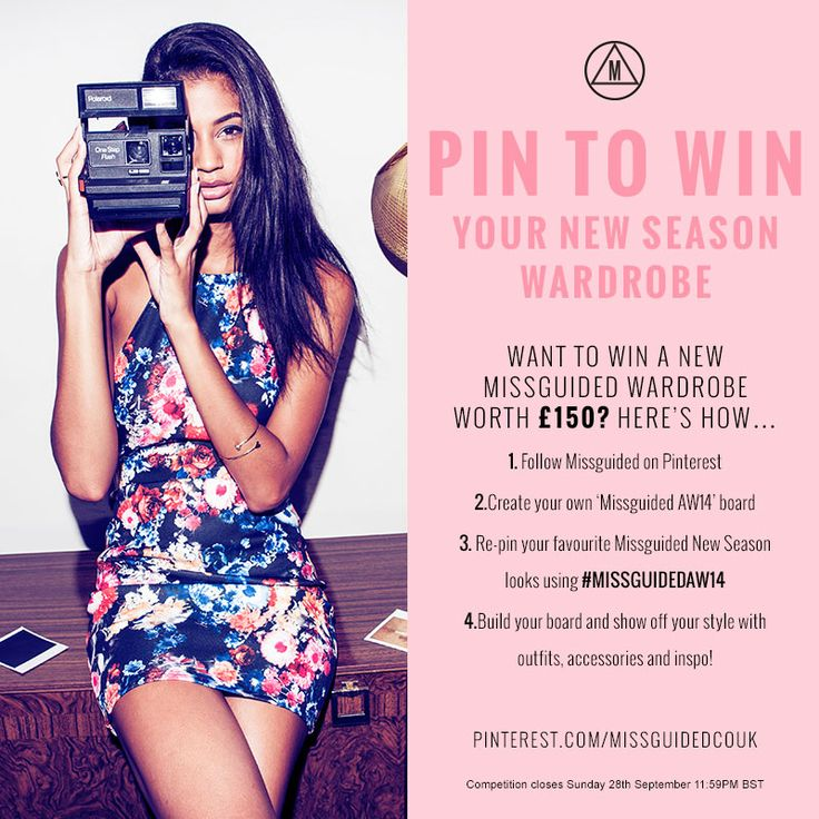 #MissguidedAW14 Want to #win a new #Missguided Wardrobe worth £150? You've got until the #competition closes on Sunday 28th September 11:59PM 2014 BST to enter – good luck!