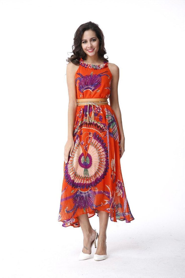 Chicloth Beautiful Ethnic Print Summer Dress