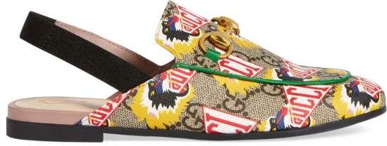 1748fea5fcb Children s Princetown GG Gucci baboon slipper beige