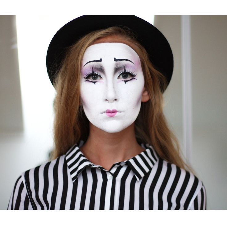 Mime halloween makeup and costume - By Somilk [Mimer/clown/cirque look for halloween]