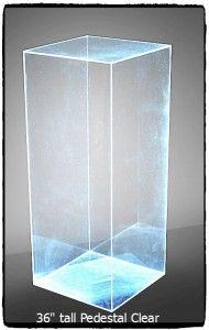 Pedestal Clear 36 inches tall