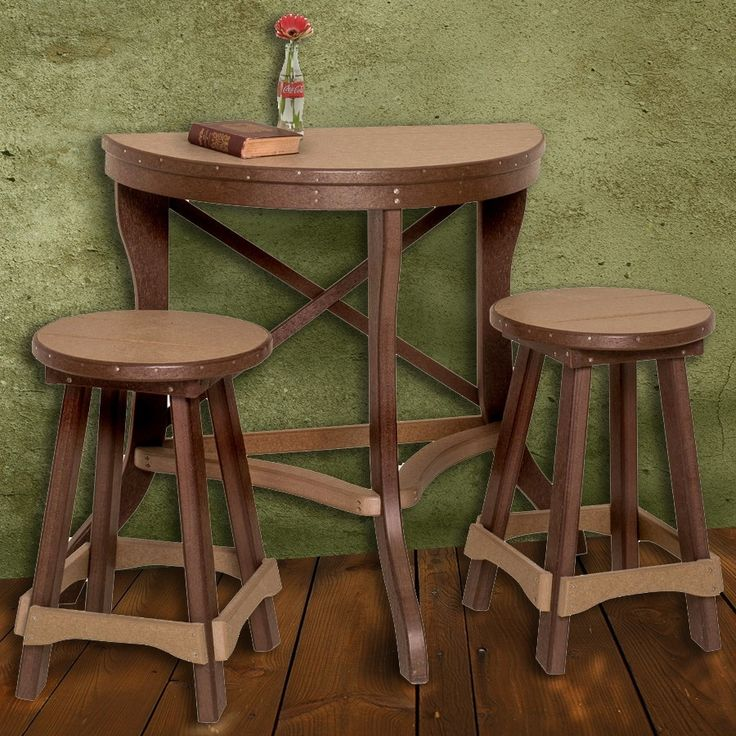 Amish High Top Table And Chairs