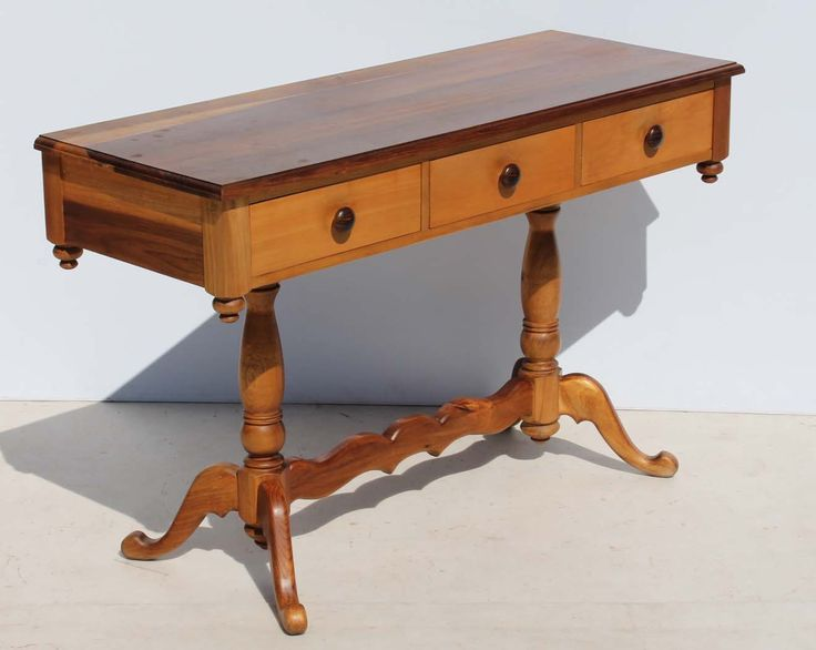 Blackwood and Yellowwood Hall Table Server Desk Made by Anton Vorster Furniture in Knysna Condition:  Used  Blackwood and Yellowwood Hall Table Server Desk Made by Anton Vorster Furniture in Knysna  size: 1260 L x 470 W x 780 H  R4999  Cell 076 706 4700  Tel 021 - 558 7546  www.furnicape.co.za  0414