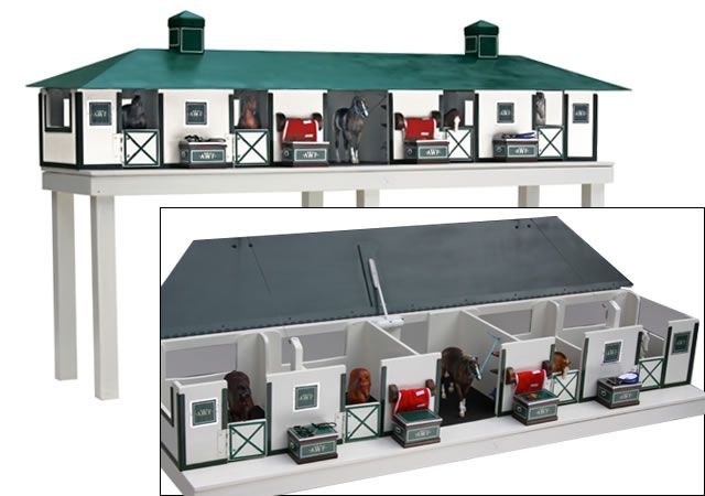 McGuinn Farms model horse barn... they'll make it with your barn's colors!