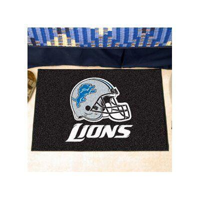 """FANMATS NFL - Detroit Lions Ulti-Mat Rug Size: 2'10"""" x 3'8.5"""""""