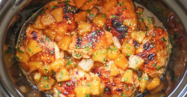 The Slow Cooker Pineapple Chicken That You'll Never Stop Eating