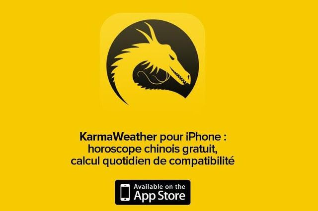 Coup de coeur : KarmaWeather, l'horoscope chinois sur iPhone qui prévoit votre karma du jour et calcule votre compatibilité avec les autres - par ParisianShoeGals #Lifestyle #astrologie #app