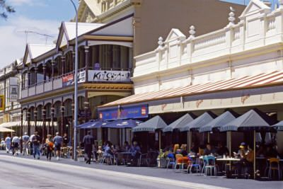 Fremantle Western Australia   Market Street Cafes. Study abroad 2003. Lived in Fremantle, and loved every minute. Will return someday!!