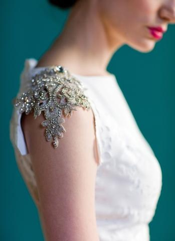 I love the embellished cap sleeve. Might have to play with this