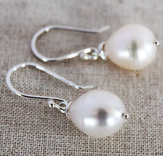 Organic Pearl Earrings  Natural Baroque Pearl Drop by karioi, $119.00 http://etsy.com/shop/karioi