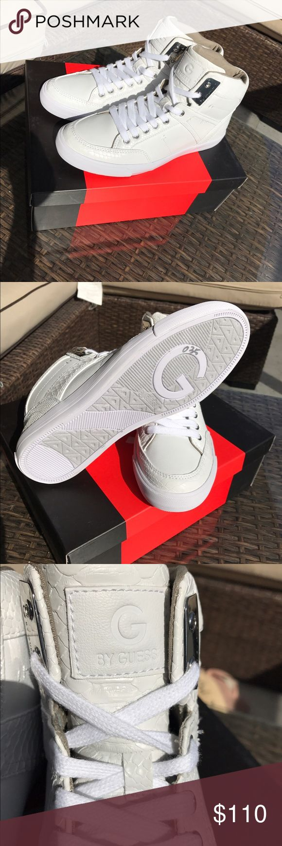 White high top sneakers Brand new ! Guess Shoes Sneakers