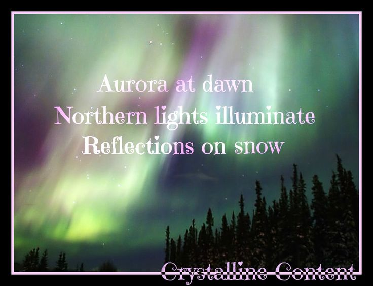 Northern Lights Description Writing