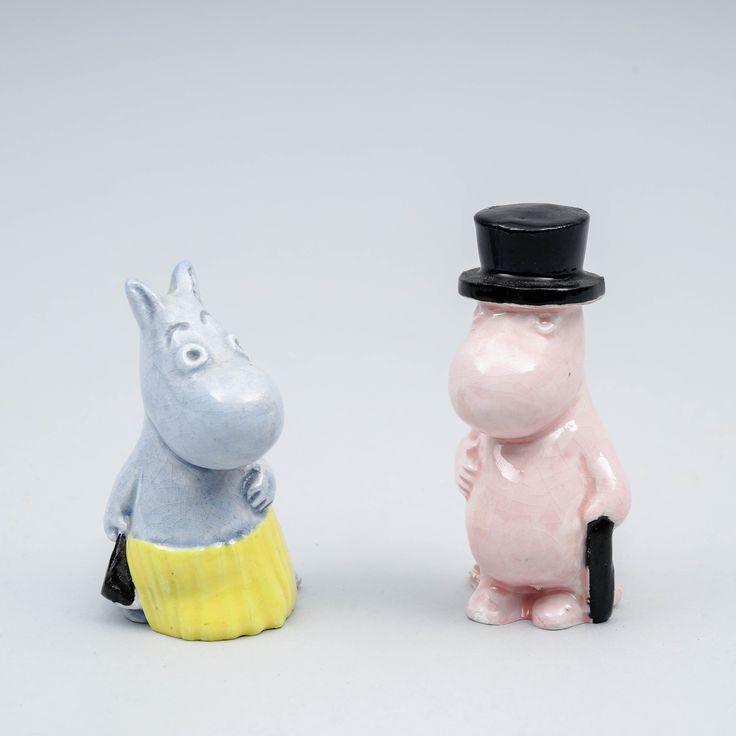 Muumi-figuriineja, 1950-luku.