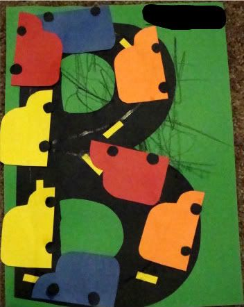 B is for Bus Craft | Royal Baloo Change it to letters made to look like a road and use cars to trace the letters.