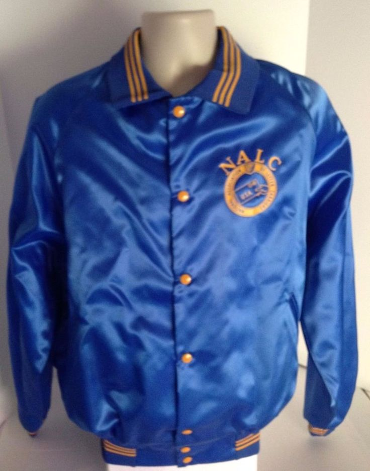 details about national association of letter carriers satin blue jacket size xl usa mail post