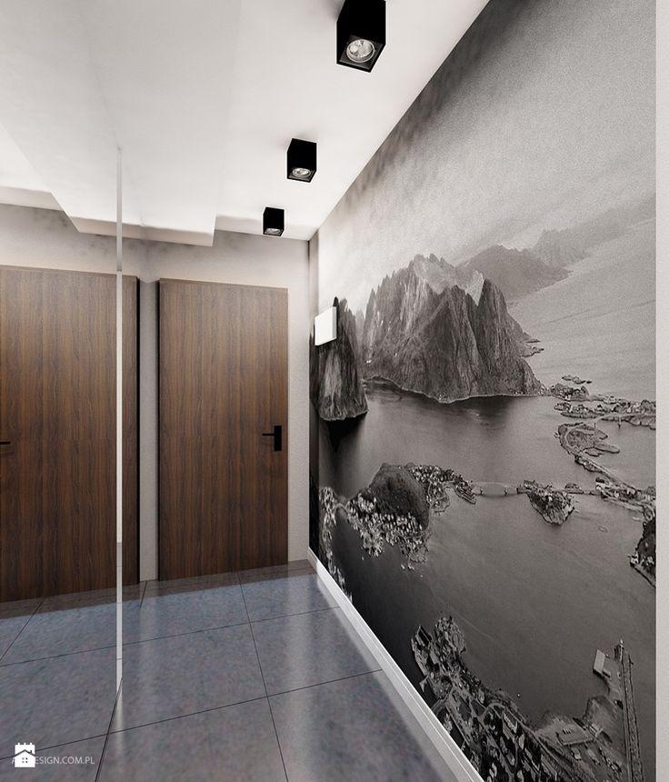 Projekt mieszkania 55m2 w Dąbrowie Górniczej - zdjęcie od Ale design Grzegorz Grzywacz - Hol / Przedpokój - Styl Nowoczesny - Ale design Grzegorz Grzywacz