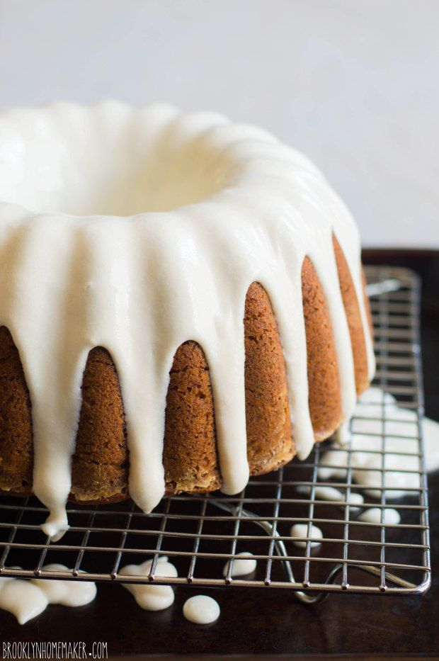 TOMATO SOUP BUNDT CAKE with CREAM CHEESE GLAZE [USA] [brooklynhomemaker]
