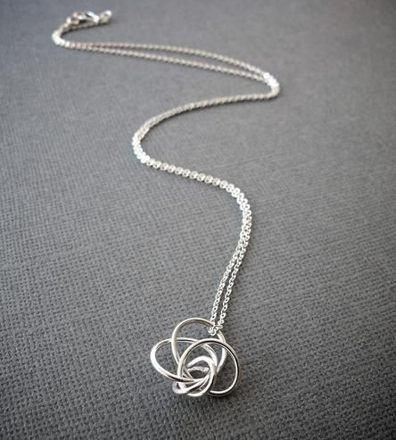silver tangle necklace