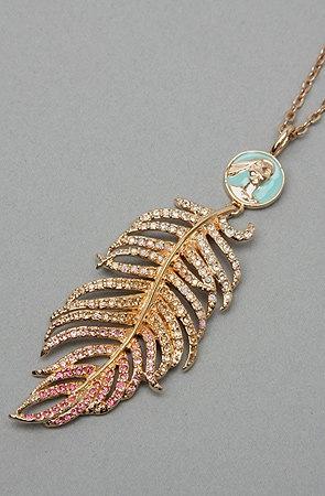 Disney Couture Pocahontas Feather Necklace