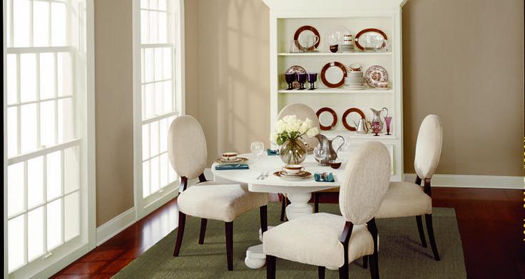 BEHR Paints Tuscan Beige Dining Room swiss coffee trim ...