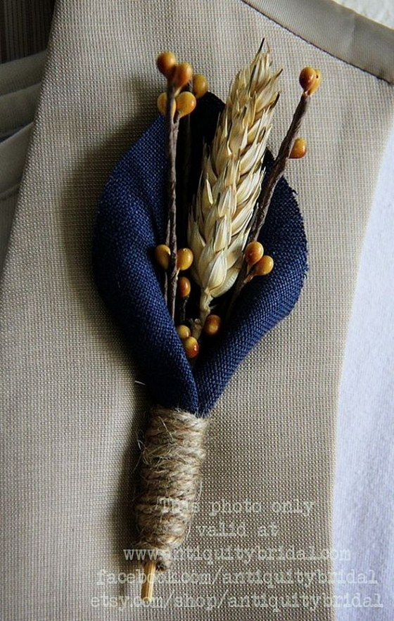 Fall Wedding Boutonnieres for Every Groom / http://www.himisspuff.com/fall-wedding-boutonnieres-for-every-groom/2/