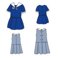 Patron Marinette, robe taille basse, 3, 4, 6, 8, 10 ans
