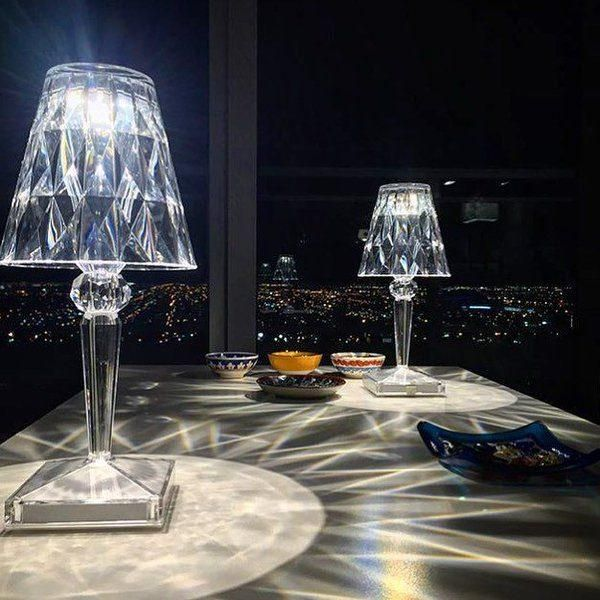 Kartell Battery Led Table Lamp Diamond Dream Jewelry Apparel Led Table Lamp Dimmable Table Lamp Table Lamp