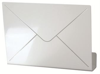 Gather your mail in one place with stylish, white lacquered Letter mail holder for letters and papers.