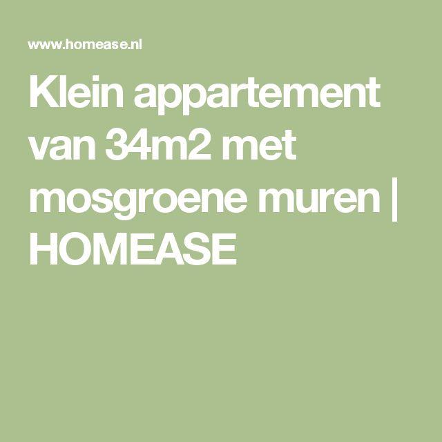 Klein appartement van 34m2 met mosgroene muren   HOMEASE