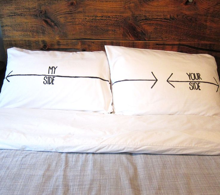 DIY: His & Her Pillowcases