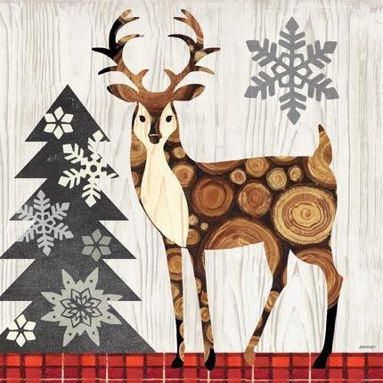Norwegian Wood-Deer by Jennifer Brinley | Ruth Levison Design