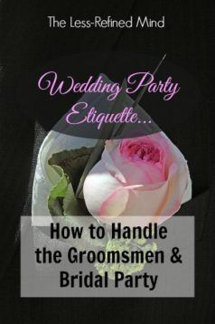 Everything you need to know about staying in control of the wedding party!