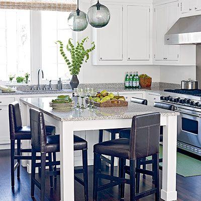 island kitchen table: Ideas, Beach House, Warm Modern, Lights Inspiration, Islands Lights, Pendants Lights, Comforters Kitchens, Modern Homes, Russell Grove