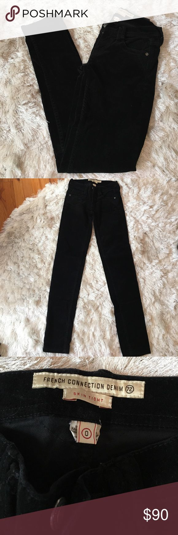 French Connection Velour Jeans French Connection Velour Jeans. Skin tight. Excellent condition. French Connection Jeans Skinny