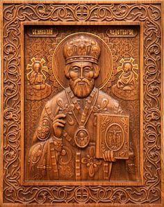 Резные иконы из дерева, изготовленные по православным канонам