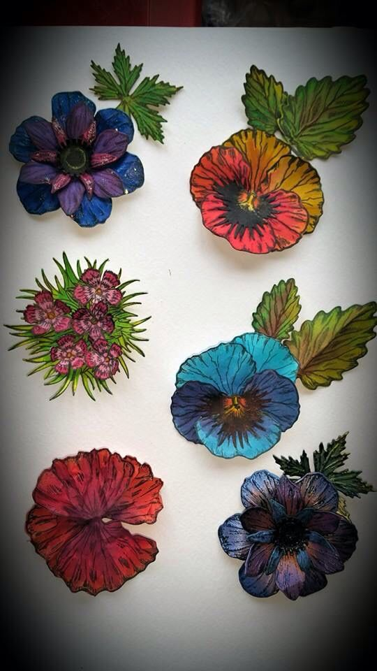 new Victorian flower stamps and dies